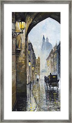 Prague Old Street 01 Framed Print