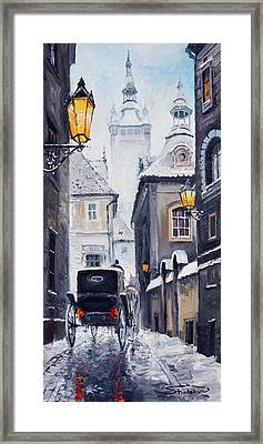 Prague Old Street 02 Framed Print