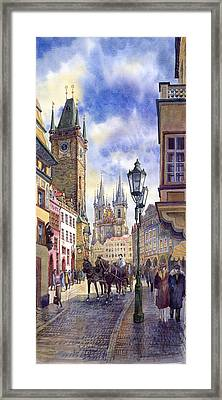Prague Old Town Square 01 Framed Print