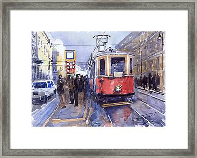 Prague Old Tram 03 Framed Print by Yuriy  Shevchuk