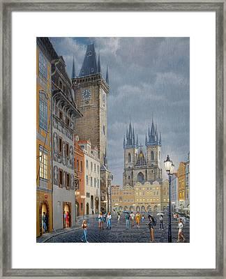 Prague.old Town Square Framed Print