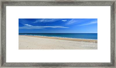 Praia Do Cabeco - Panoramic Framed Print by Carl Whitfield