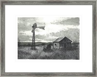 Prairie Farm Framed Print by Jonathan Baldock