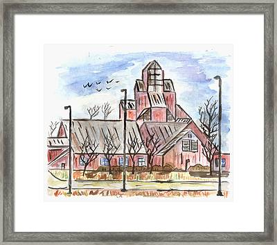 Prairie Holdings Building Framed Print by Matt Gaudian