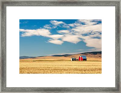Prairie Red Framed Print