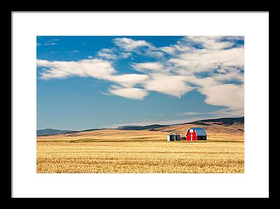 Montana State Framed Prints