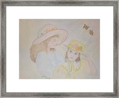 Prairie Sun Hats Framed Print by Patti Lennox