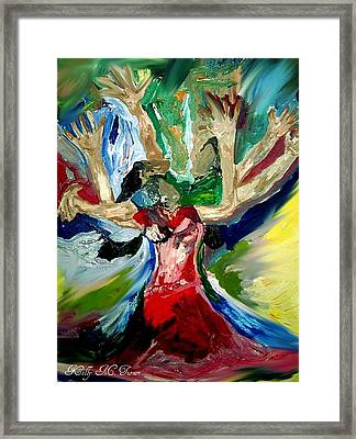 Praise Dance Framed Print