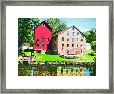 Prallsville Mill Framed Print by Addie Hocynec