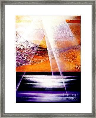 Pray Framed Print by Kumiko Mayer