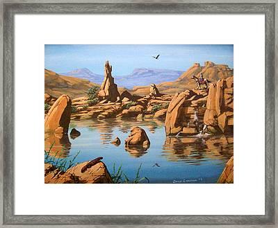 Praying Rock Framed Print by David  Larcom