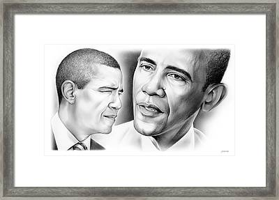President Barack Obama Framed Print by Greg Joens