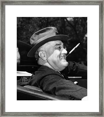 President Franklin Roosevelt, Debonair Framed Print by Everett