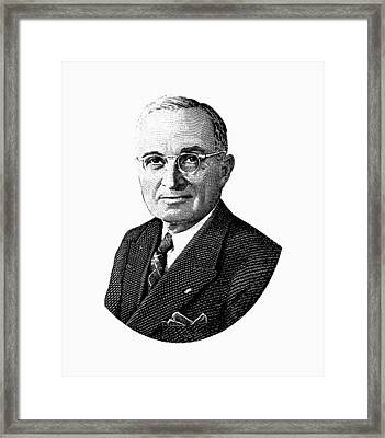 President Harry Truman Graphic Framed Print by War Is Hell Store