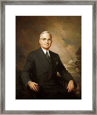 President Harry Truman Framed Print
