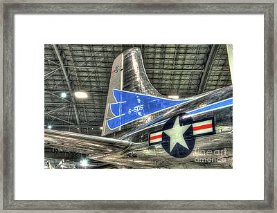 Presidential Aircraft - Douglas Vc-118, The Independence - Tail Section  Framed Print