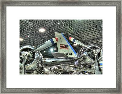 Presidential Aircraft - The Independence, Douglas, Vc-118 And Sam 26000  Framed Print