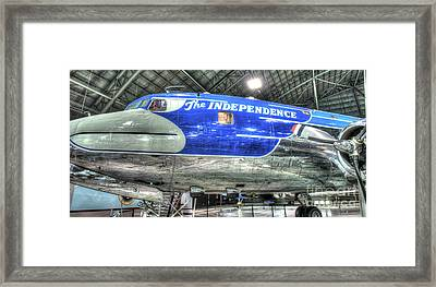 Presidential Aircraft - The Independence, Douglas, Vc-118  Framed Print