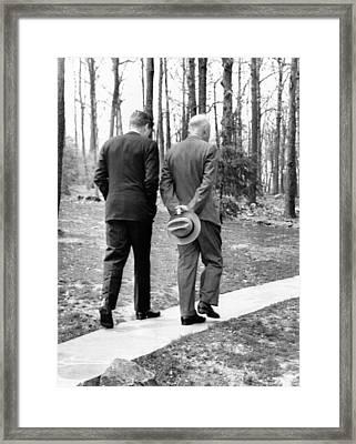 Presidents Dwight Eisenhower And John Framed Print