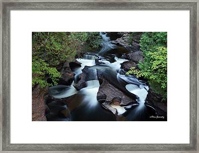 Presque Isle River Falls Framed Print
