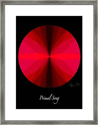 Primal Song Framed Print