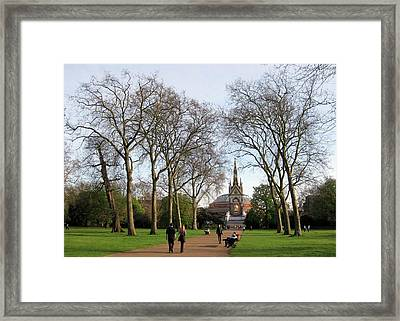 Prince Albert Hall And Memorial Framed Print by David L Griffin