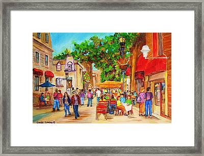 Prince Arthur Street Montreal Framed Print by Carole Spandau