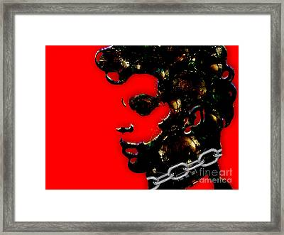 Prince Tribute Framed Print by Marvin Blaine