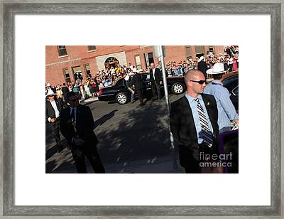 Prince William And Princess Kate Framed Print by Donna Munro