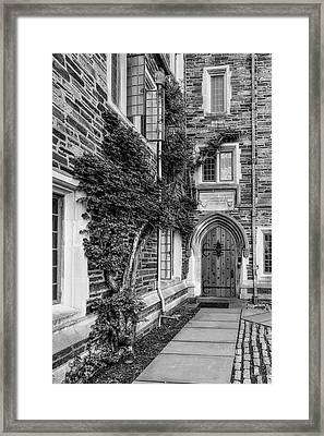 Framed Print featuring the photograph Princeton University Foulke Hall II by Susan Candelario