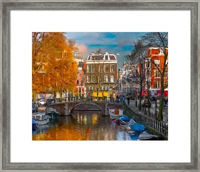Prinsengracht 807. Amsterdam Framed Print