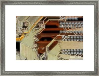 Printed Curcuit Framed Print by Michal Boubin