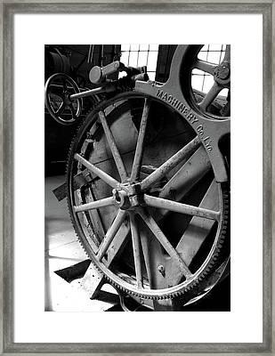 Prison Gear Framed Print by Elizabeth Richardson