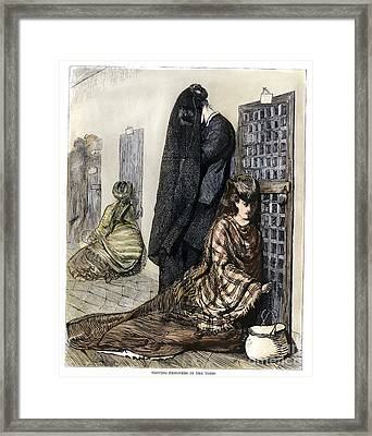 Prison: The Tombs, 1870 Framed Print by Granger