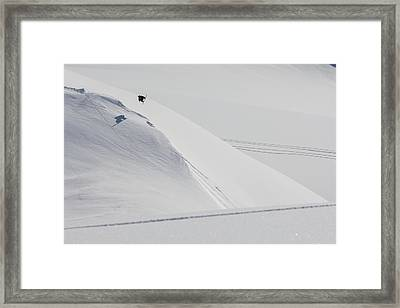 Professional Snowboarder, Marko Grilc Framed Print by Dean Blotto Gray