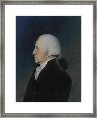 Profile Portrait Of George Washington Framed Print