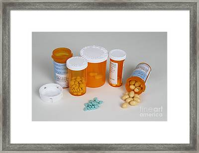 Progesterone 200mg And Estradiol 2mg Framed Print by Photo Researchers, Inc.