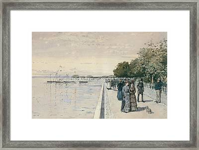 Promenade Framed Print by Childe Hassam