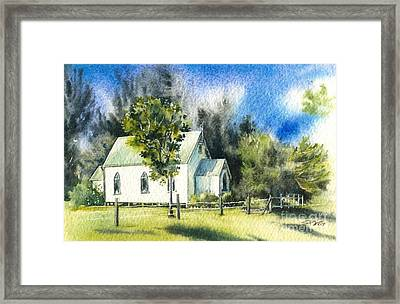 Promised Land Church Framed Print by Sandra Phryce-Jones