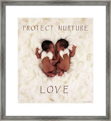 Protect Nurture Love Framed Print