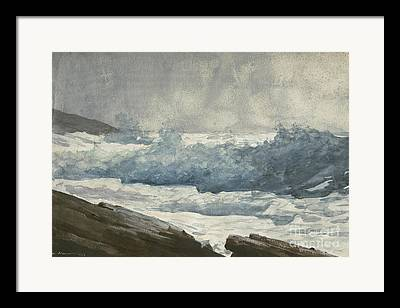 Maine Shore Drawings Framed Prints