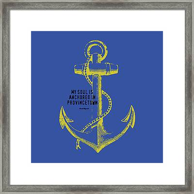 Provincetown Anchor Framed Print by Brandi Fitzgerald