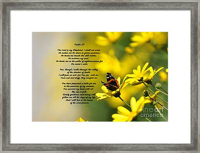 Psalm 23 Framed Print by Debby Pueschel