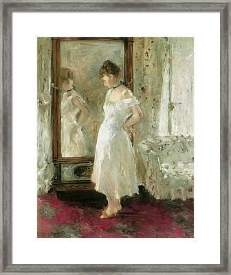 Psyche Framed Print by Berthe Morisot