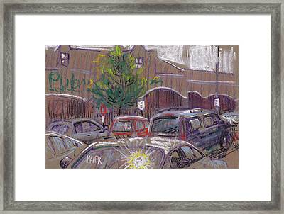 Publix Parking Framed Print by Donald Maier
