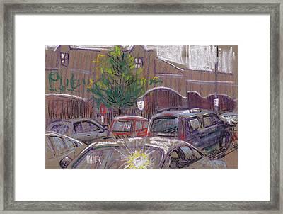 Publix Parking Framed Print by Donald Maier