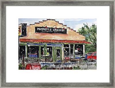 Puckett's Grocery Framed Print