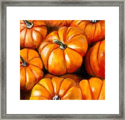 Pumpkin Harvest Framed Print by Lincoln Howes