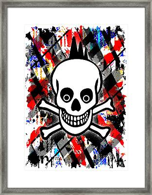 Punk Rock Skull Framed Print