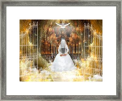 Pure Bride Framed Print